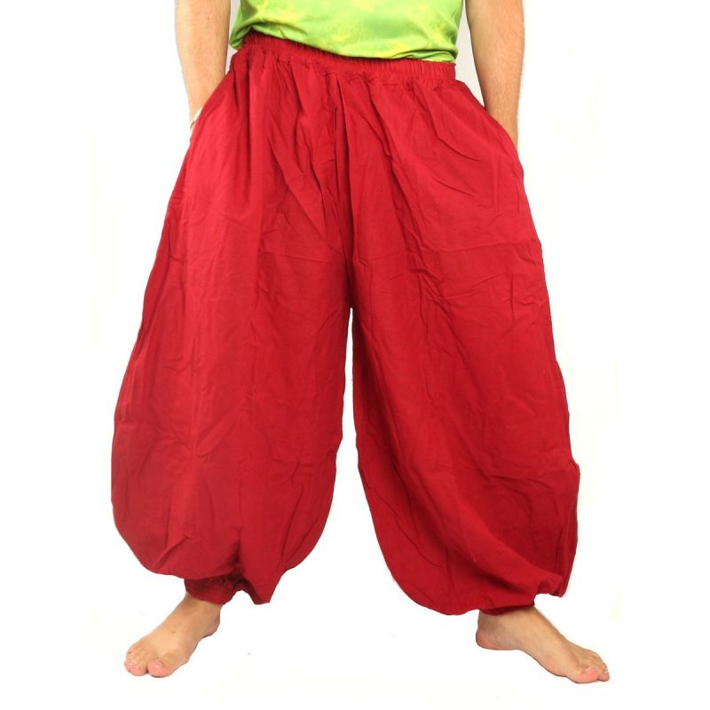 Harem pants cotton red