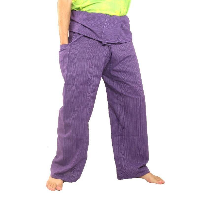 Pescador pantalones tailandeses Cottonmix extralargas - violeta