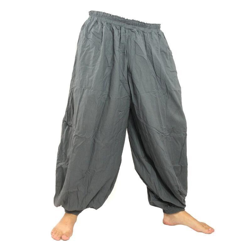 Haremshose Baggy Pants Baumwolle grau