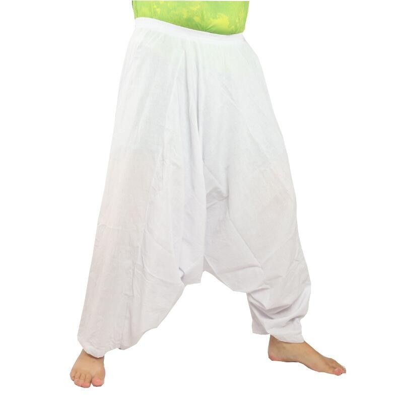Aladdin pants cotton white