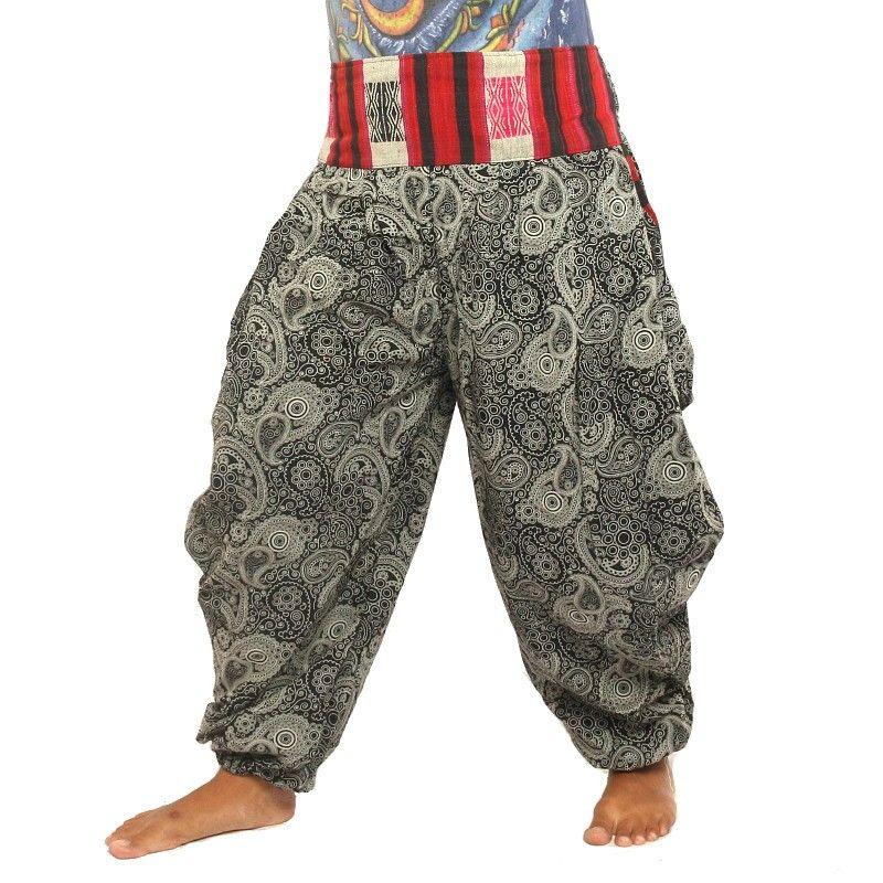 Impreso pantalones de harén