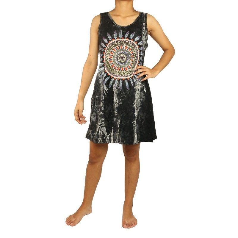No Time ärmelloses Kleid Größe M Stonewashed Mandala