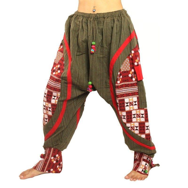 Harem hippie con polainas