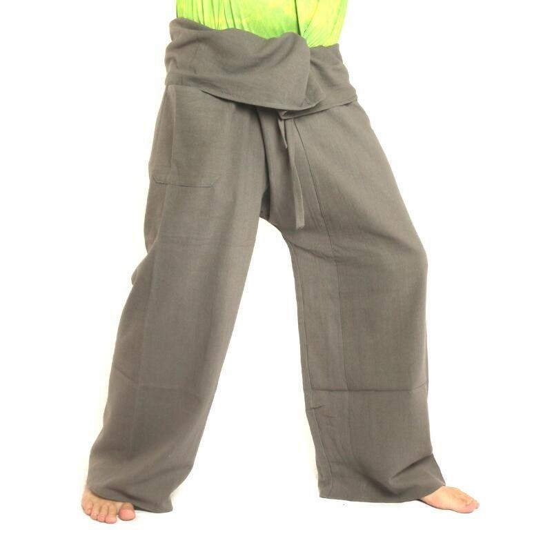 Thai Fisherman pants - gray - extra long cotton
