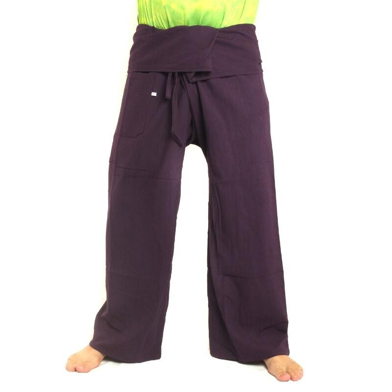 Thai Fischerhose - violett - extra lang Baumwolle CMX-Long6 078a5403b9
