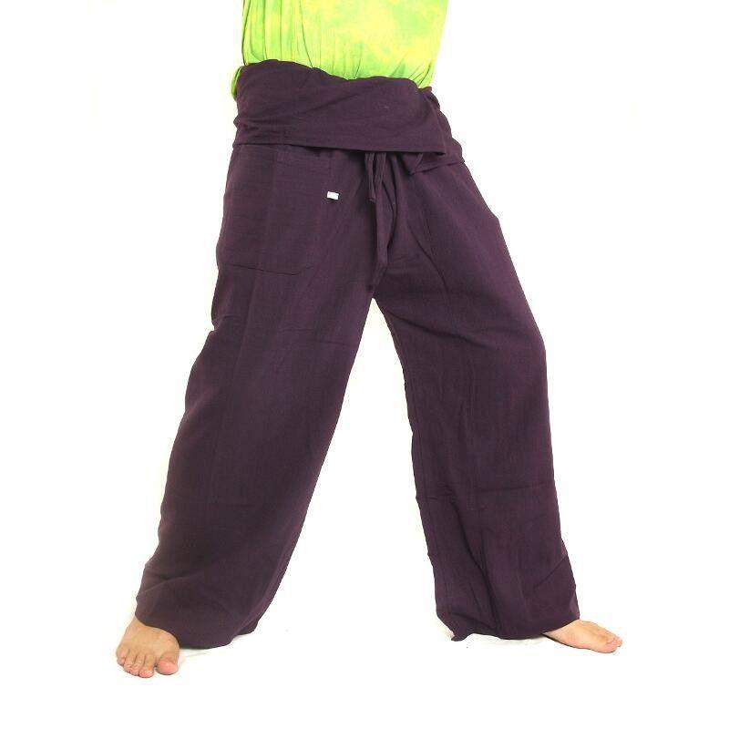 Thai Fischerhose - violett - extra lang Baumwolle Vergrößern 702d124d35