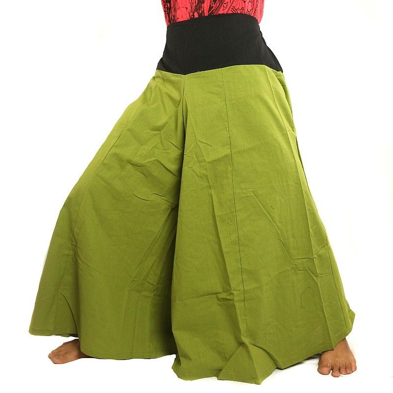 Samurai pantalones de algodón verde menta