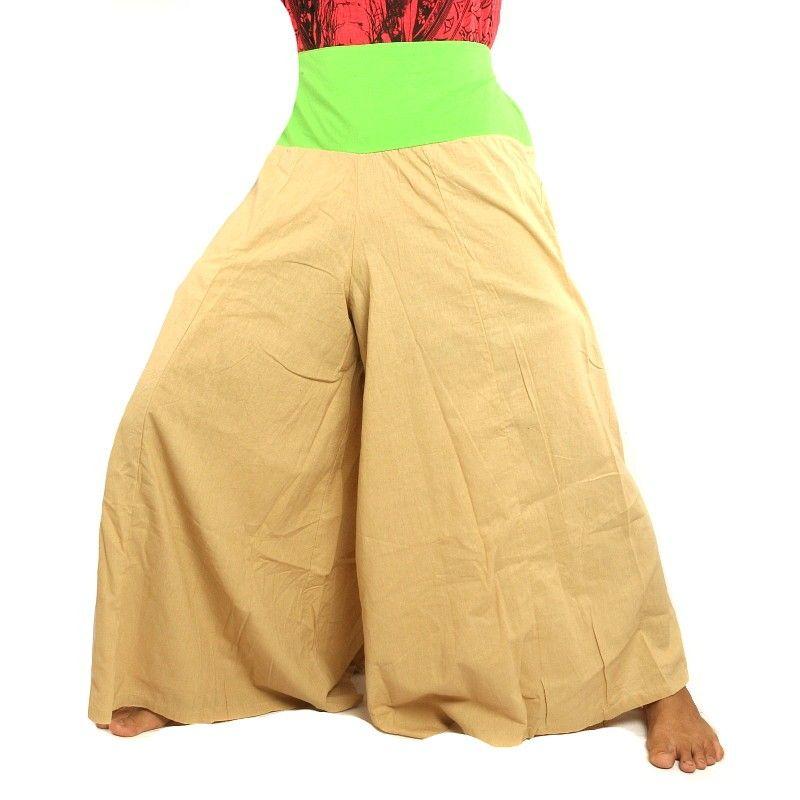 Samurai pantalones de algodón beige