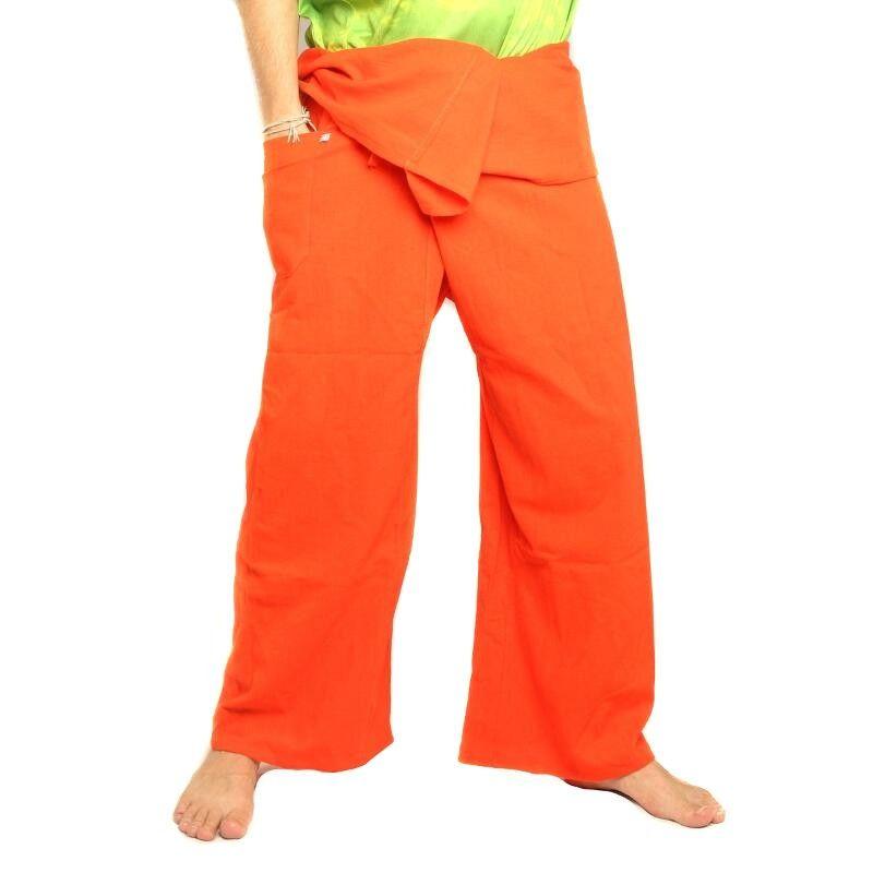 Thai fisherman pants - orange - extra long cotton
