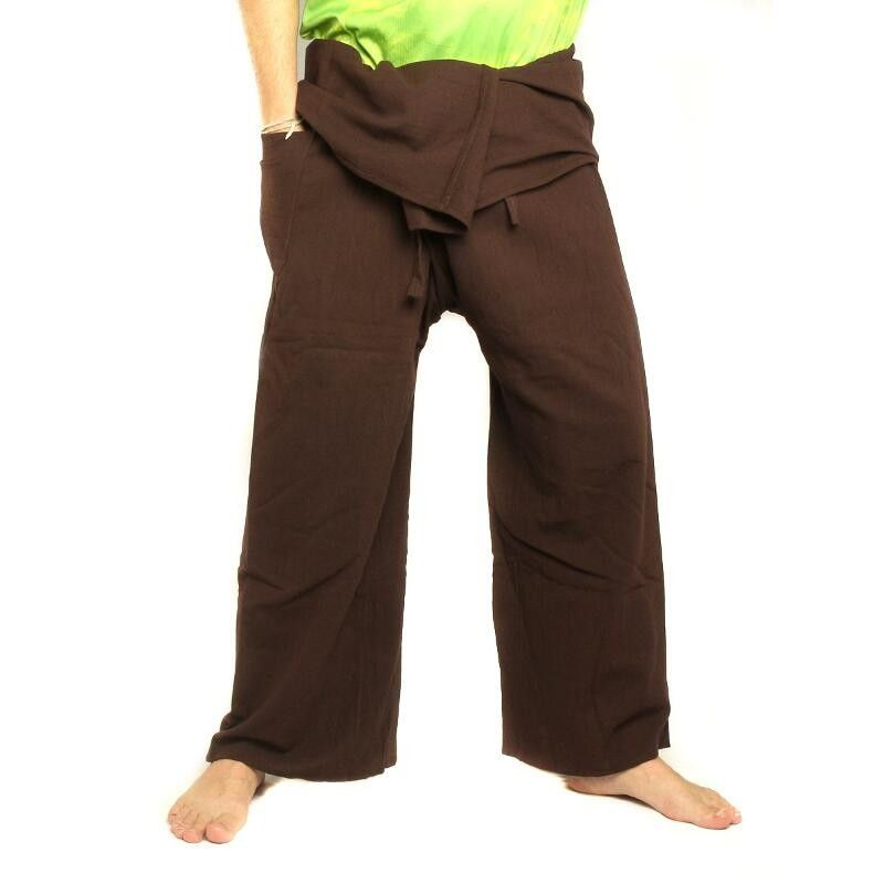 Thai Fisherman pants - brown - extra long cotton