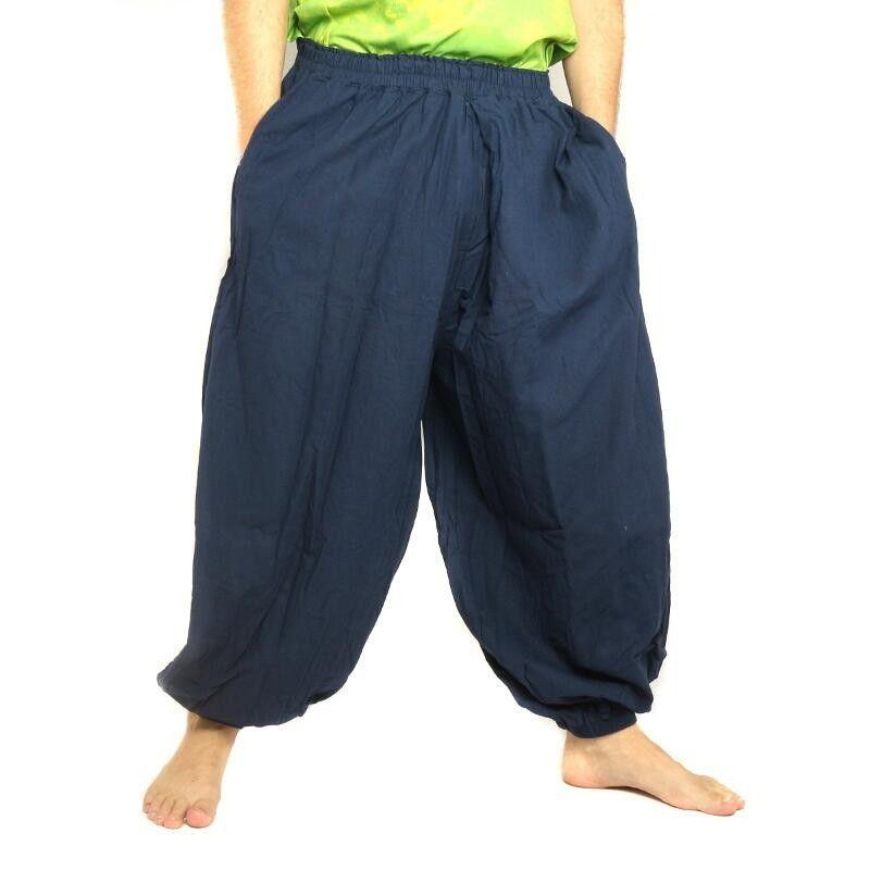 Harem pants cotton blue