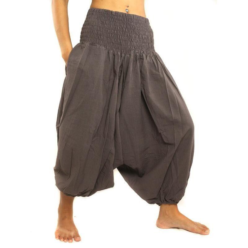 3/5 Aladdin pants cotton dark gray