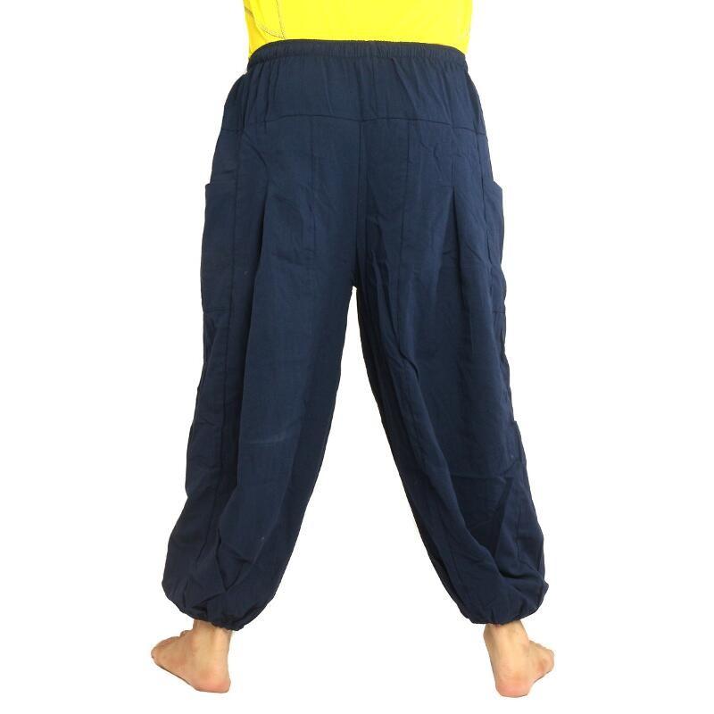Pantalon At Om Floral Goa Bleu Imprimé E1 7Y6gybfv