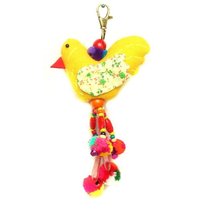 Taschenanhänger Schlüsselanhänger Vogel