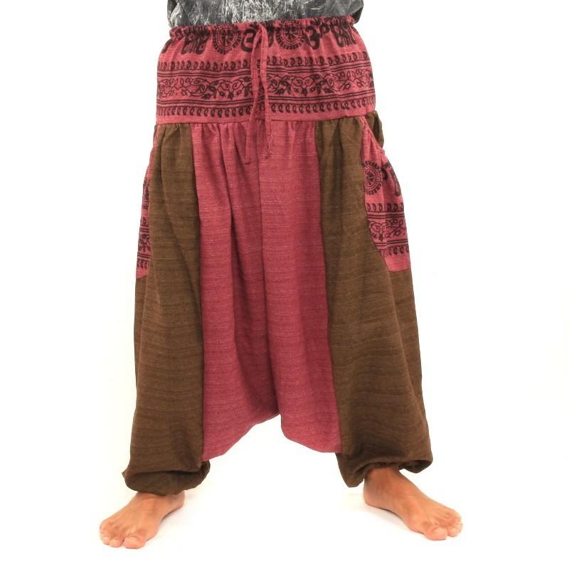 pantalons afghani avec deux grandes poches lat rales dta36. Black Bedroom Furniture Sets. Home Design Ideas