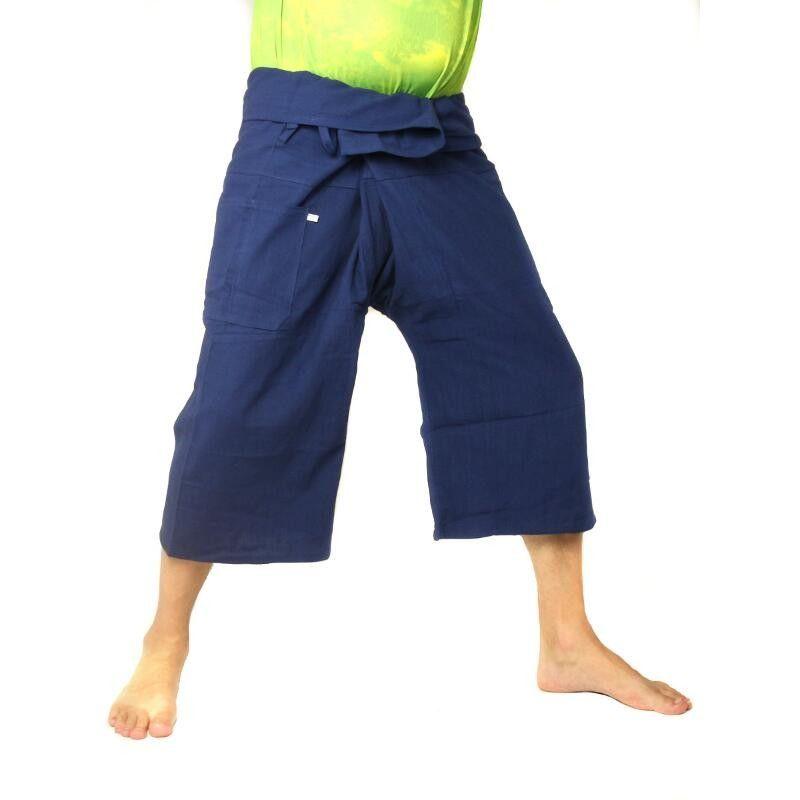 Short Thai Fisherman pants heavy cotton - dark blue