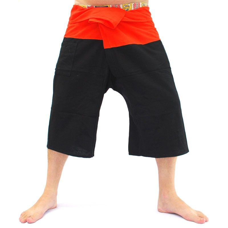 3/5 Thai Fisherman Hose - zweifarbig - Baumwolle