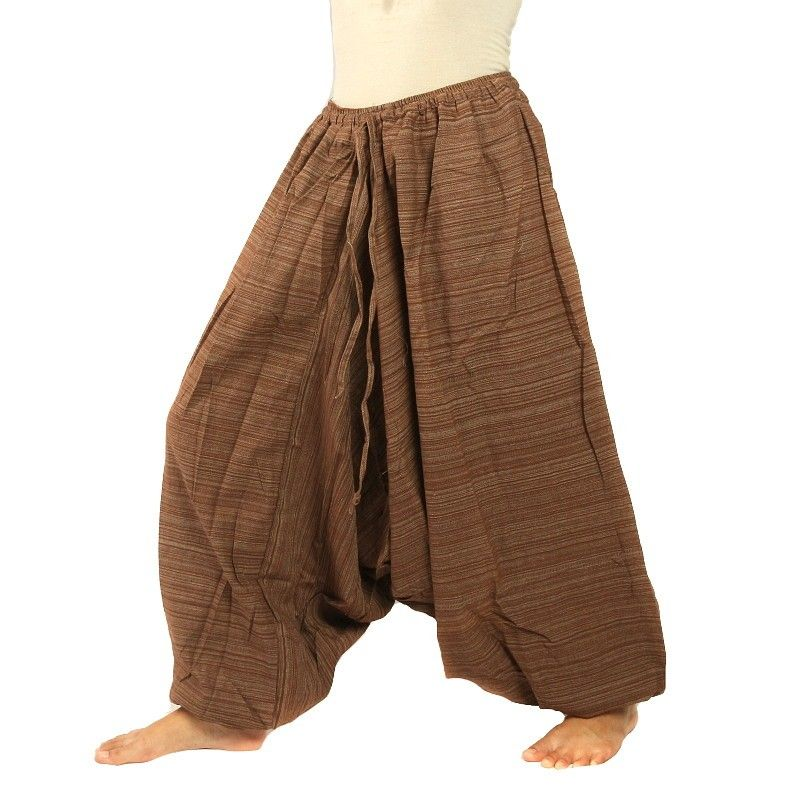Baggy pants Cottonmix - brown