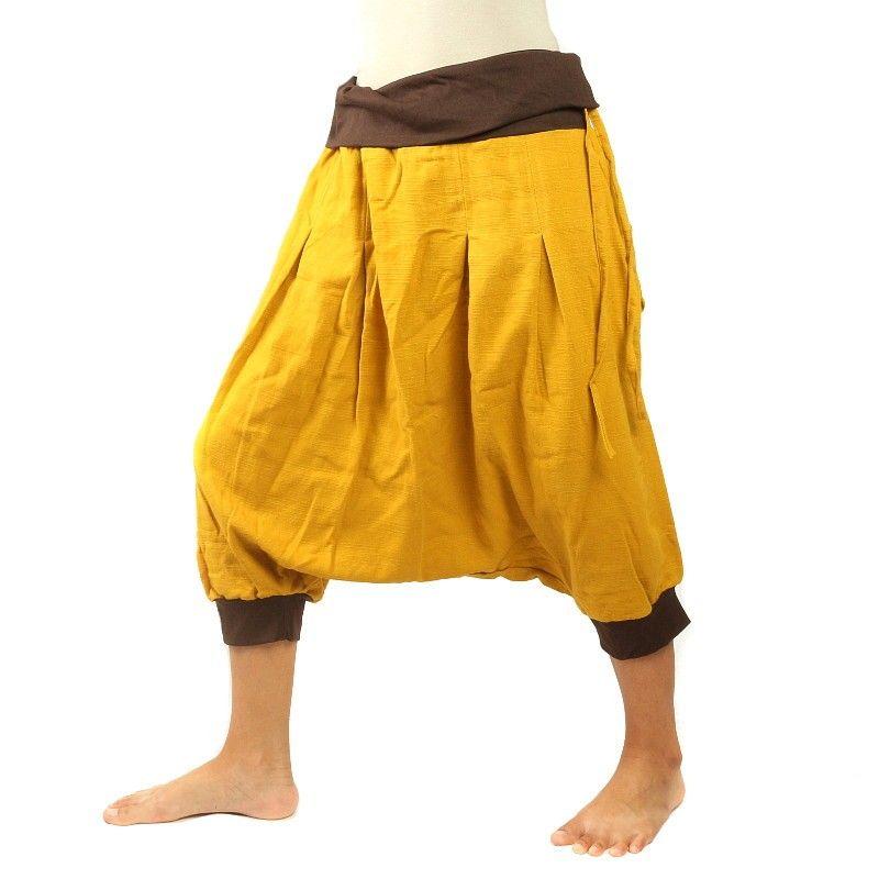 3/4 Aladdin - marrón ocre amarillo Pisett con dos bolsillos traseros
