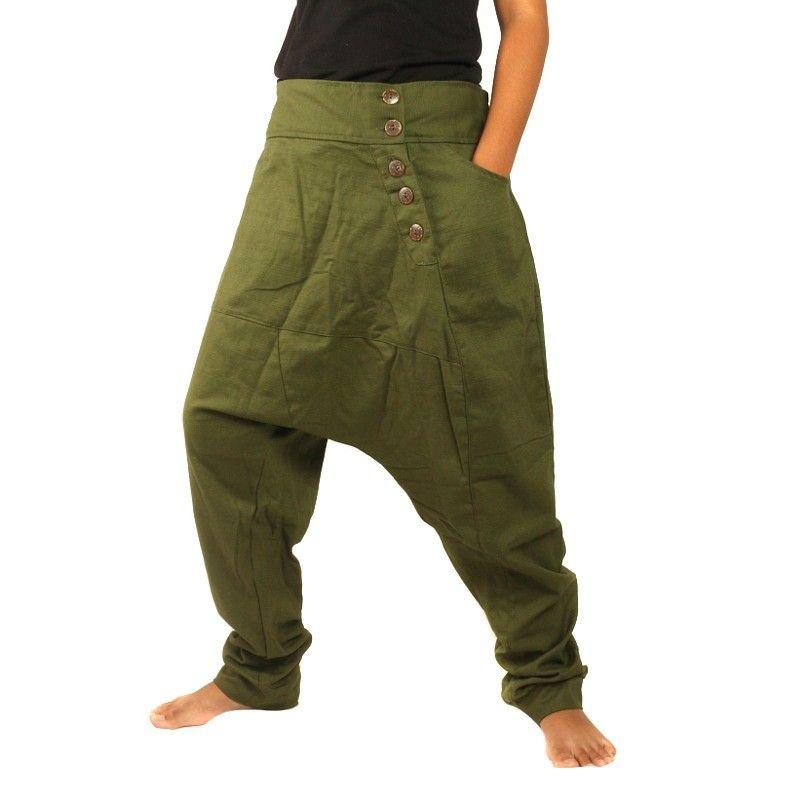 Aladdin Pants - Pisett green