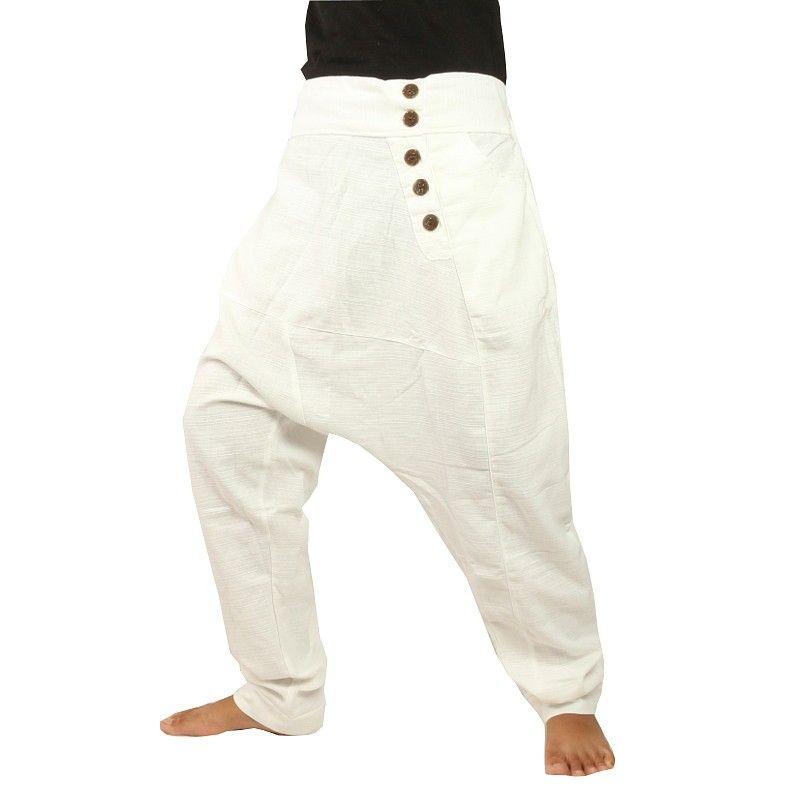Aladdin pants - Pisett white