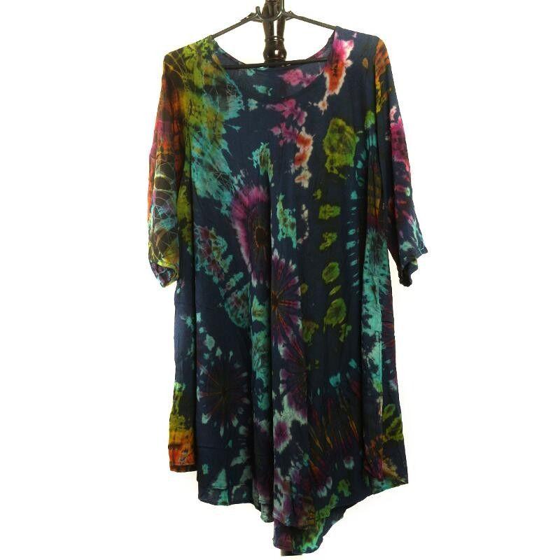 Thai Kleid aus Viskose - Batik