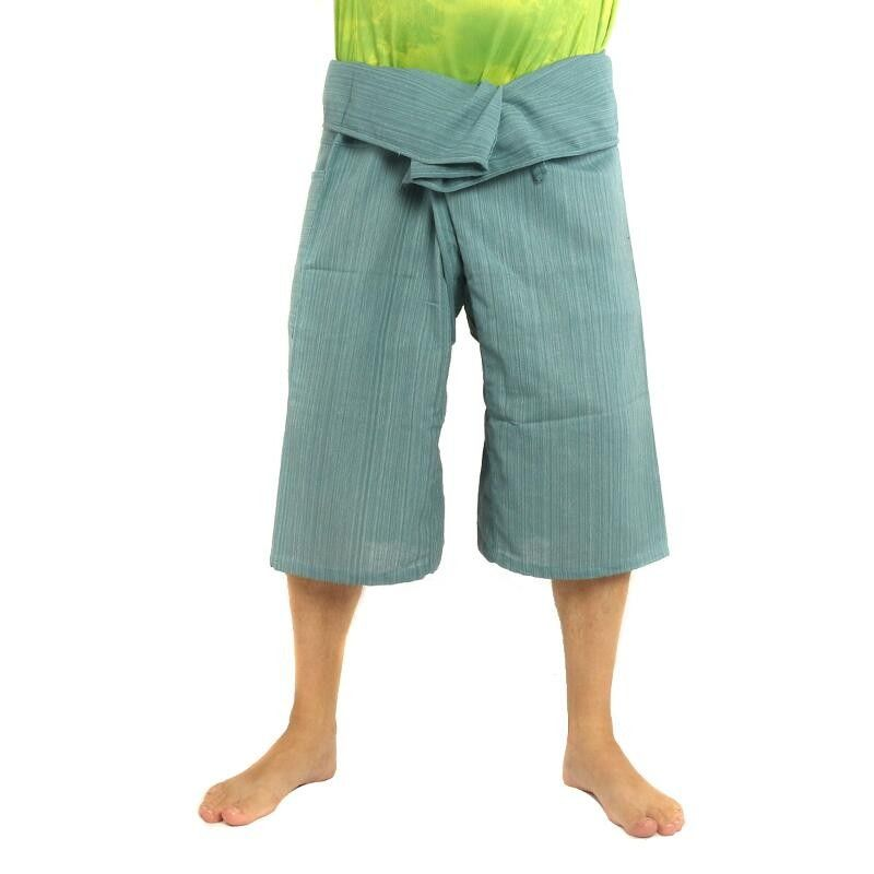 3/5 Thai Fisherman Hose - blau - Baumwolle