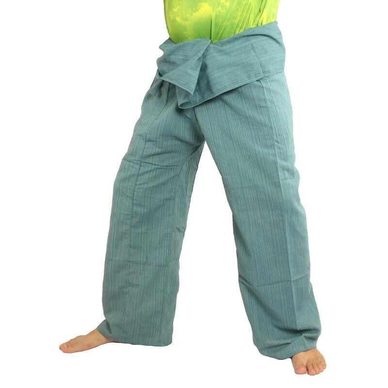 Pescador pantalones tailandeses Cottonmix extra larga - azul
