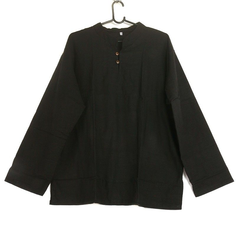 Thai cotton shirt fairtrade black size XL