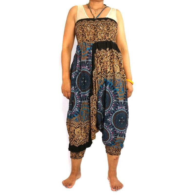 Harem Pants Baggy Pants Jumpsuit Viscose