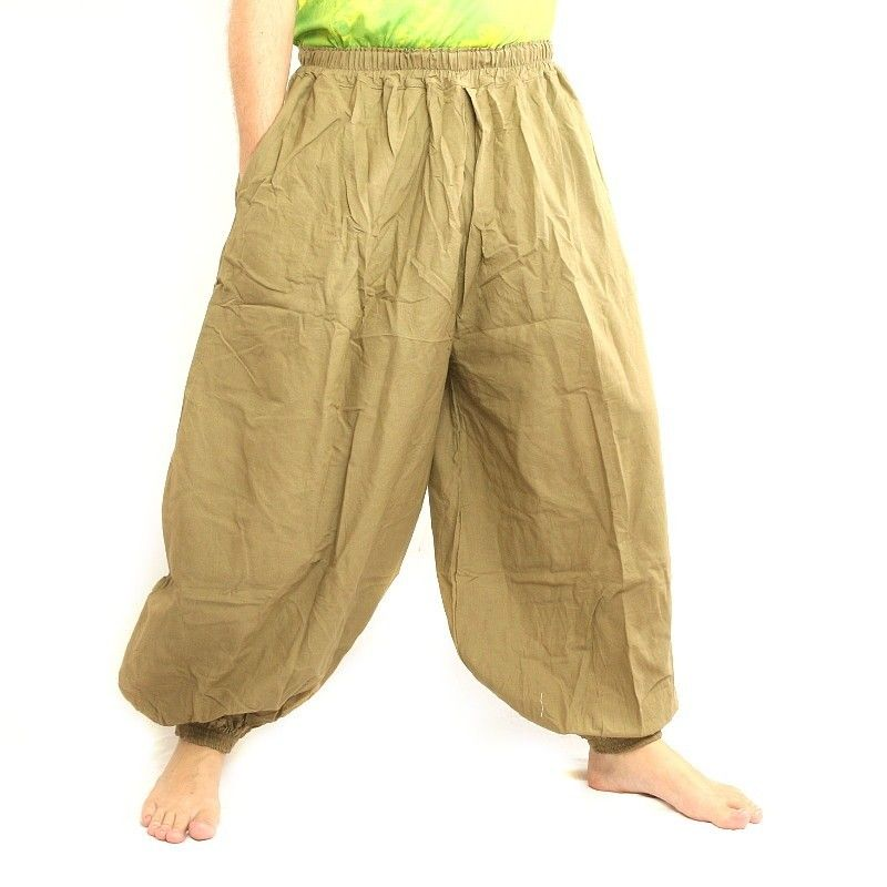 Harem pants cotton khaki