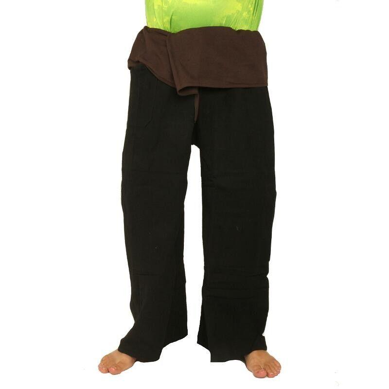 Fisherman Pants Waist Brown 2 TONE Thai Fisherman Pants Cotton . Muang