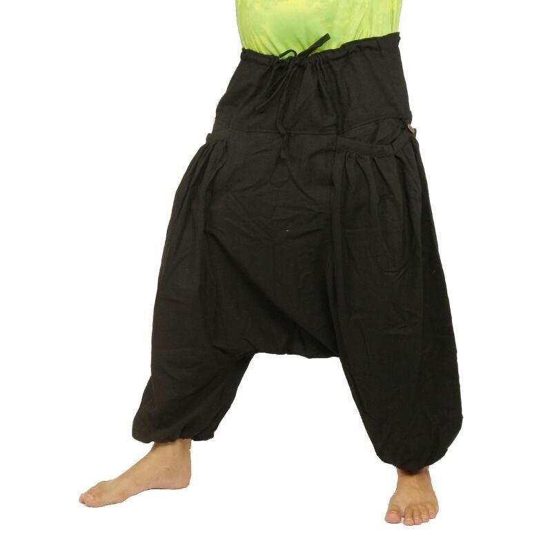Baggy Pants Afghan Afghani Trousers Cottonmix with 2 sleeve-shaped side pockets