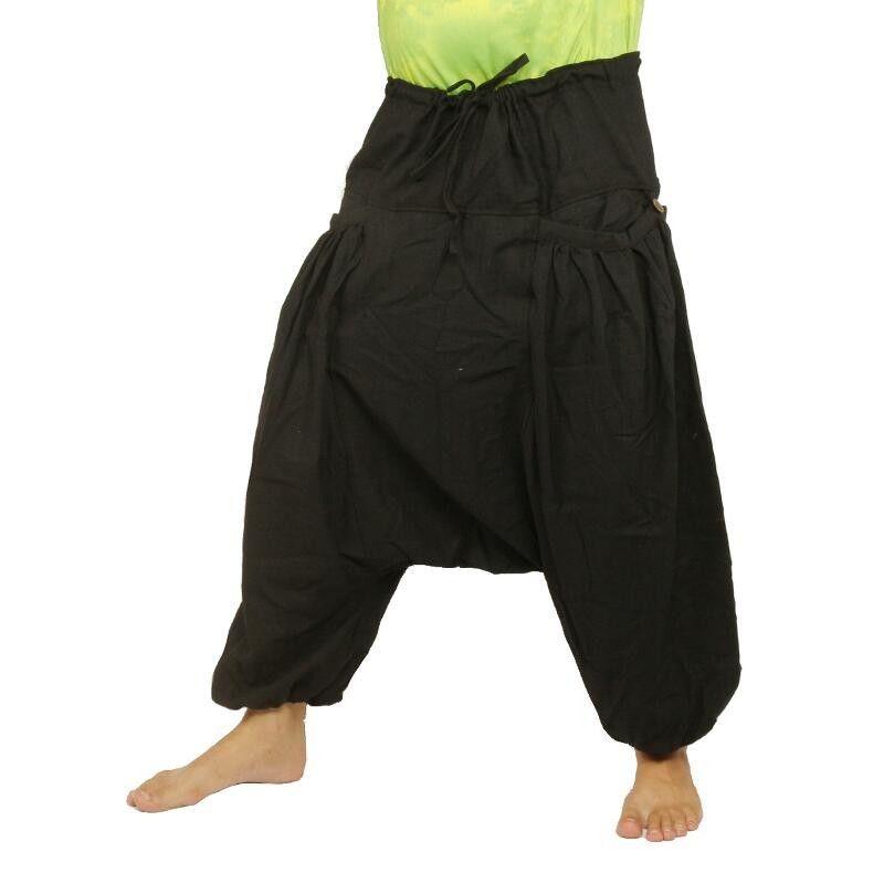 pantalones Aladdin afgano afganos Cottonmix en forma de concha con dos bolsillos laterales