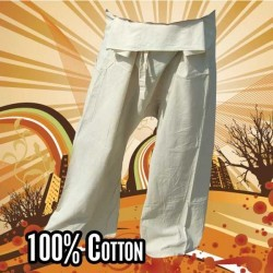 Thai fisherman pants - undyed