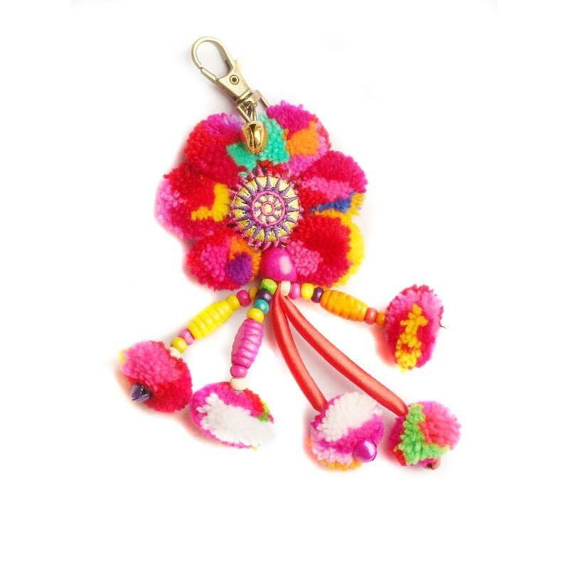 Taschenanhänger Schlüsselanhänger Mandala Blume