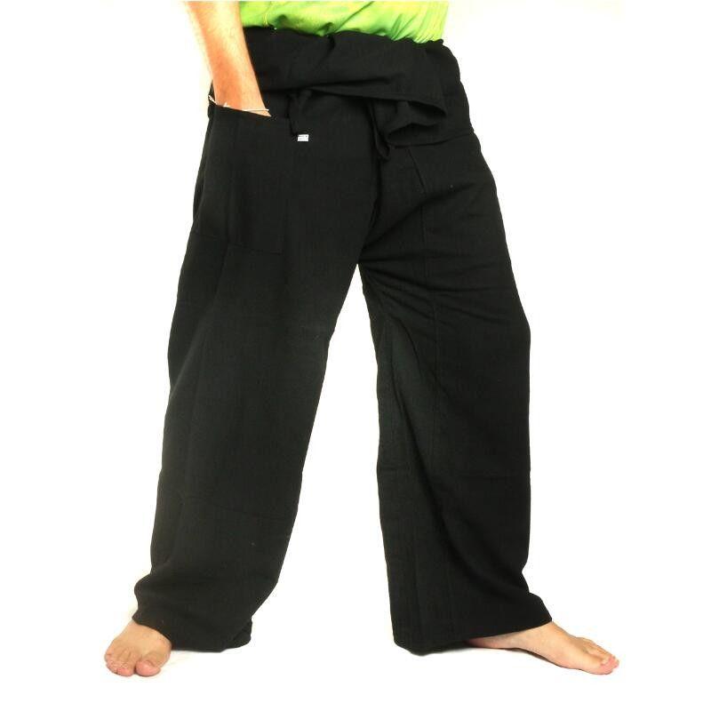 Thai Fisherman pants - black - extra long cotton