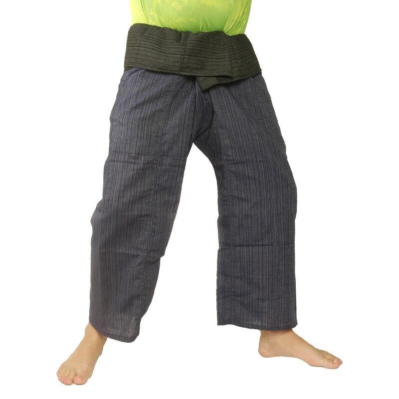 Thai Fisherman Pants Cotton Mix - blue black