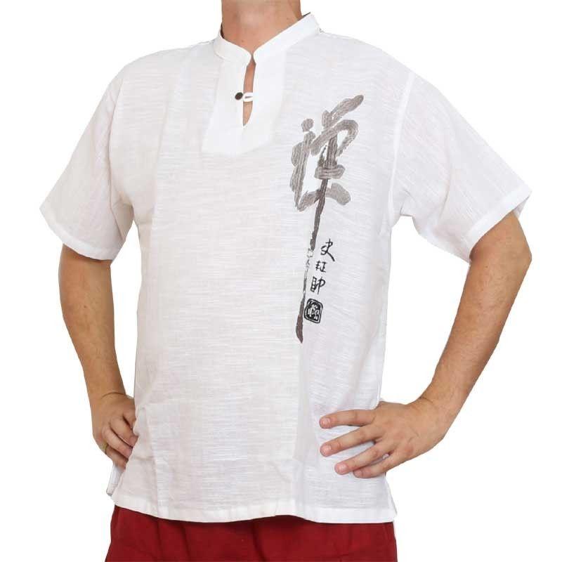 Razia Fashion - light Thai cotton shirt white Size XXL
