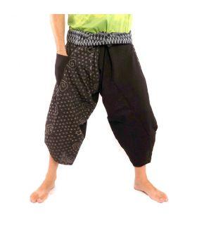 3/5 Pantalon de pêche thaïlandais Samurai - coton
