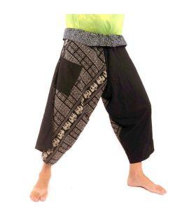3/5 Samurai Wrap Pants - Cotton