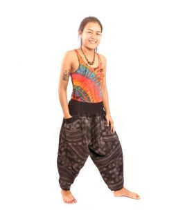Harem pants for women and men ethnic pattern