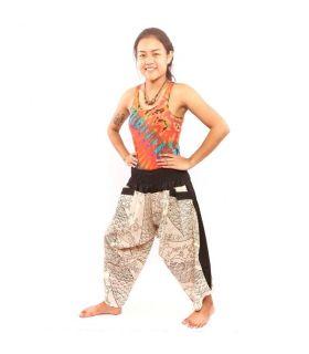 Pantalones de harén para mujeres y hombres con patrón étnico