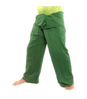 Thai fisherman pants - dark green - extra long cotton