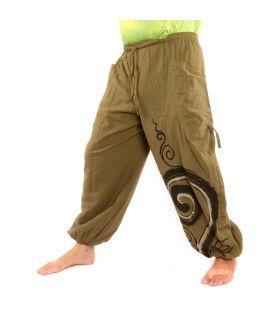 Harem pants spiral print