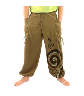 Pantalones harén impresos patrón en espiral