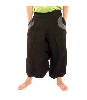 Pantalon Aladdin noir avec 2 poches latérales