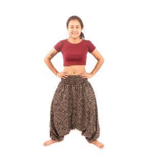 Thai harem pants Aztec pattern cotton