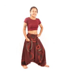 Pantalon Thai Aladdin Marron