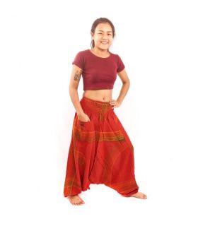 Pantalon thaïlandais en aladdin rouge